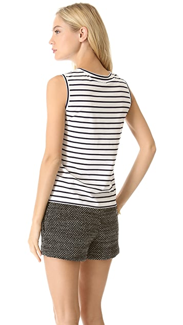Leur Logette Pullover Stripe Tank with Lace