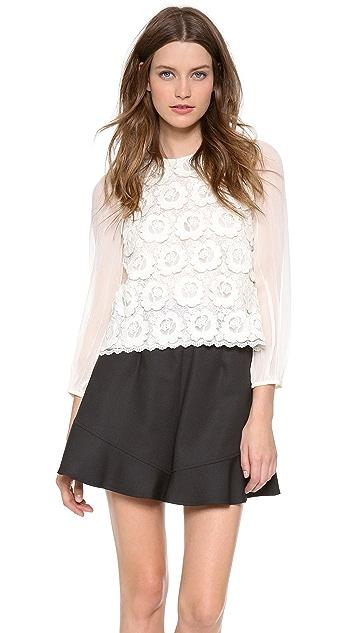 Leur Logette Couture Wool Lace Pullover