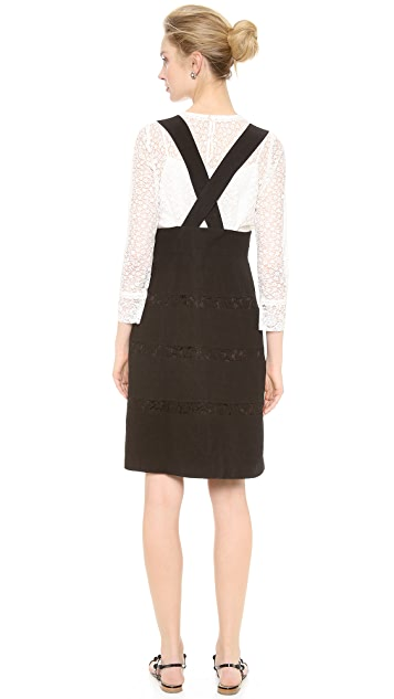 Leur Logette Lace Stripe Suspender Skirt