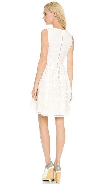 Leur Logette Stripe Flower Embroidery Dress