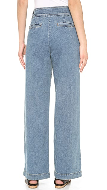 Leur Logette Wide Leg Denim Trousers