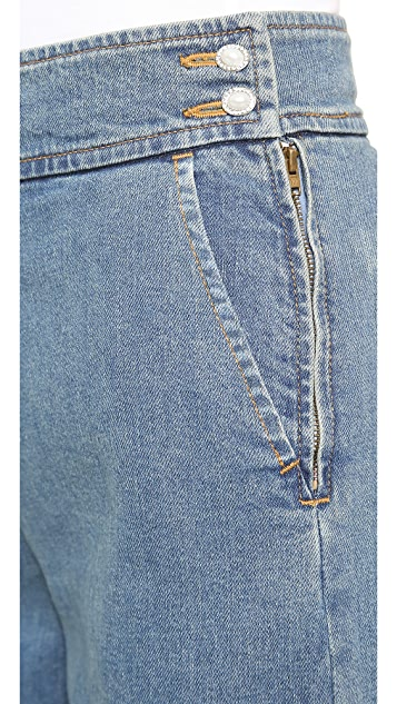 Leur Logette Wide Leg Denim Trousers