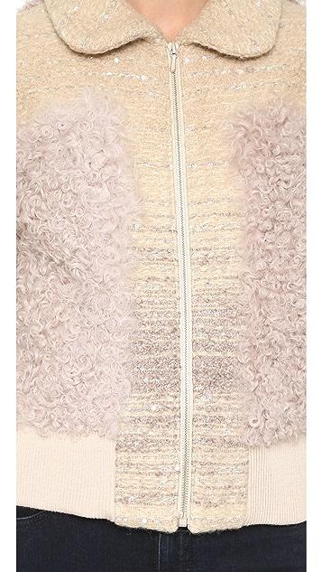 Leur Logette Tweed & Fur Jacket