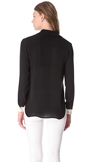 L'AGENCE Colorblock Henley