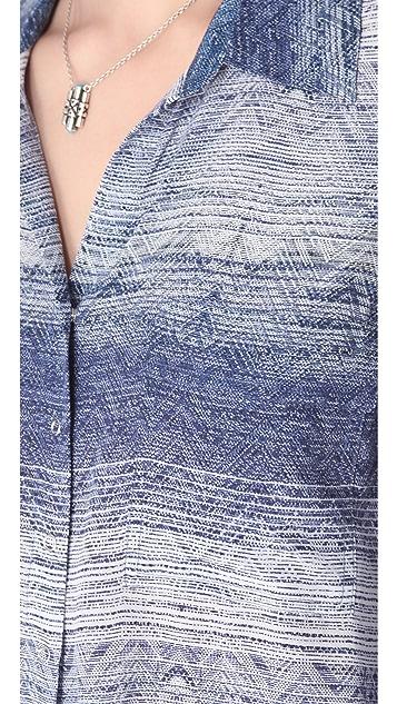L'AGENCE Long Sleeve Pocket Blouse