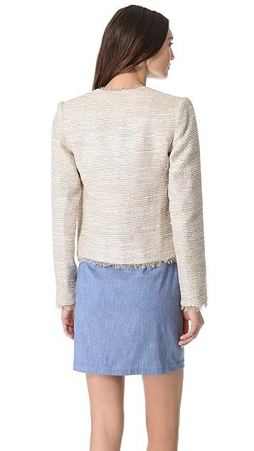 L'AGENCE Short Frayed Jacket