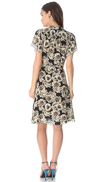 L'AGENCE Short Sleeve Wrap Dress