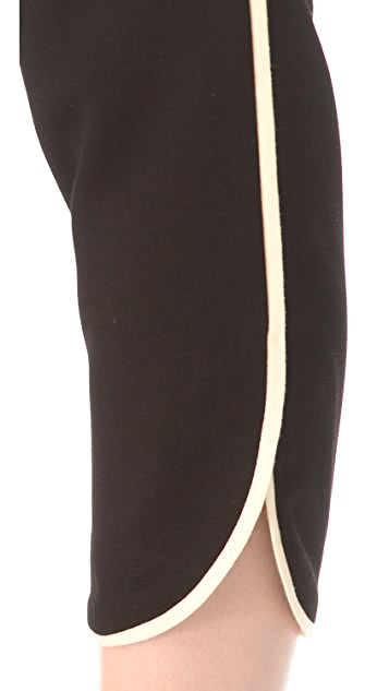 L'AGENCE Ankle Pants with Piping