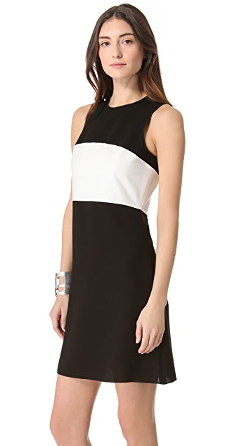 L'AGENCE Sleeveless Colorblock Dress