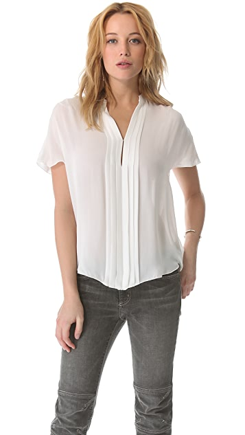 L'AGENCE Pleated Blouse