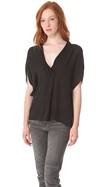 L'AGENCE Draped Dolman Top