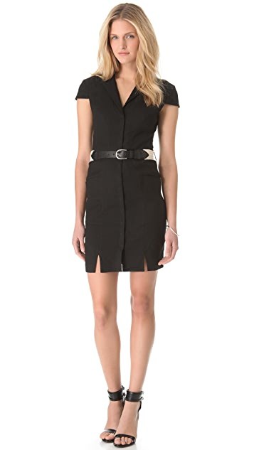 L'AGENCE Fitted Shirtdress with Belt