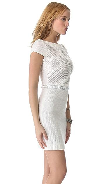 L'AGENCE Crochet Bodice Dress
