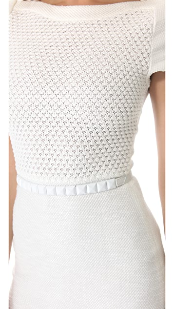 L'AGENCE Crochet Bodice Dress