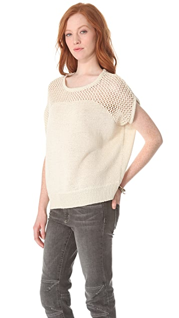 L'AGENCE Drop Shoulder Pullover