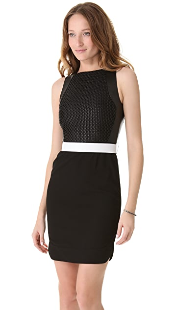 L'AGENCE Chain Link Bodice Dress