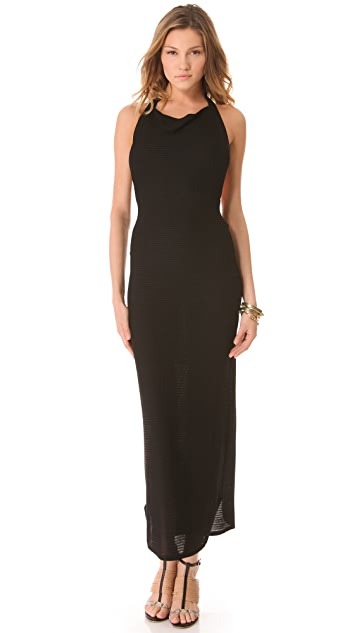 L'AGENCE Long Halter Dress
