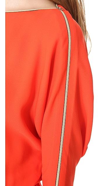 L'AGENCE Dolman Zip Shoulder Dress
