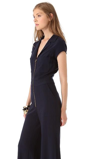 L'AGENCE Cap Sleeve Zip Jumpsuit