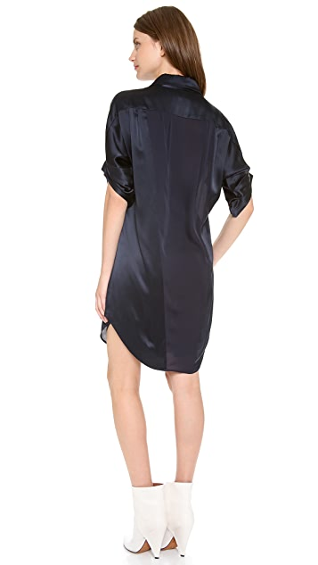 L'AGENCE Silk Block Dress