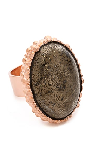 L'AGENCE Cosmic Oval Cabochon Ring
