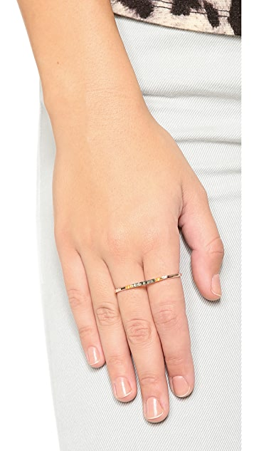 L'AGENCE Two Finger Hoop Ring