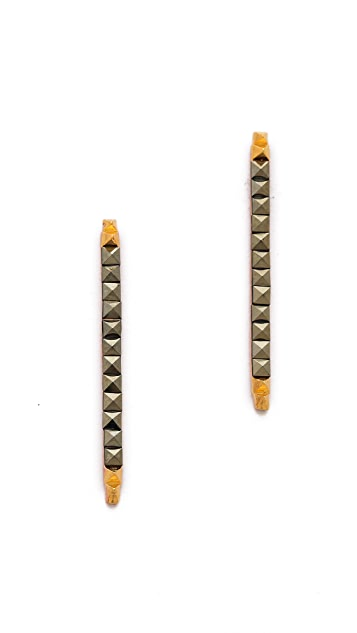 L'AGENCE Pyramid Stick Earrings