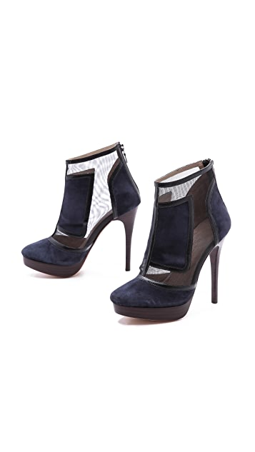 L'AGENCE Ram Mesh Ankle Booties