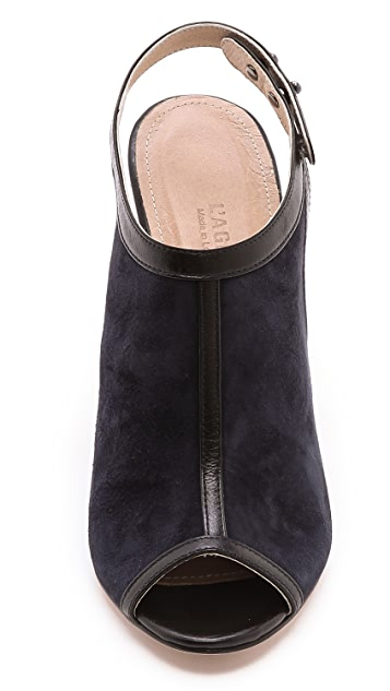 L'AGENCE Sling Back Open Toe Mules