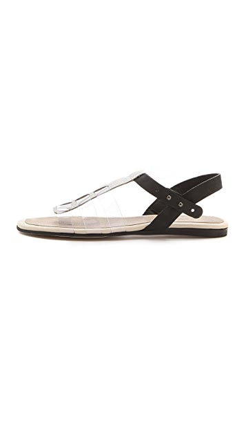 L'AGENCE Theresa Clear Strap Sandals