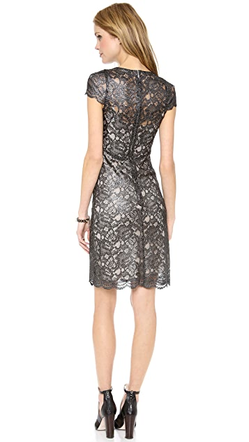 L'AGENCE Lace Dress with Silk Slip