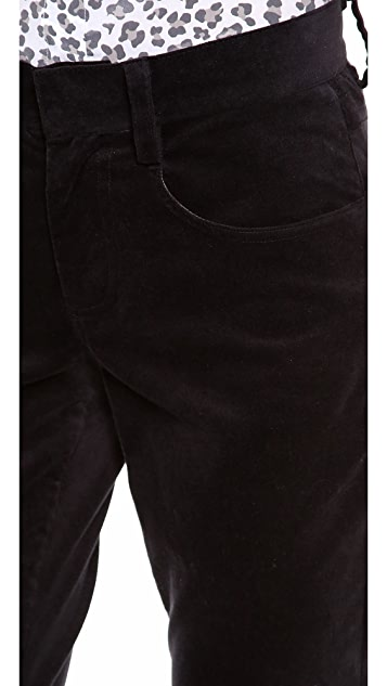 L'AGENCE Velvet Wide Leg Trousers