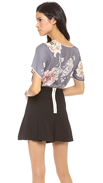L'AGENCE Bell Sleeve Scoop Neck Blouse