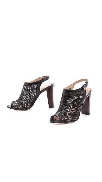 L'AGENCE Laser Cut Slingback Sandals