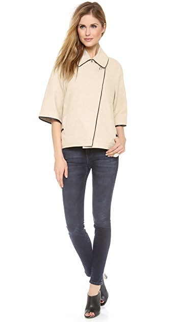 L'AGENCE 3/4 Sleeve Capelet