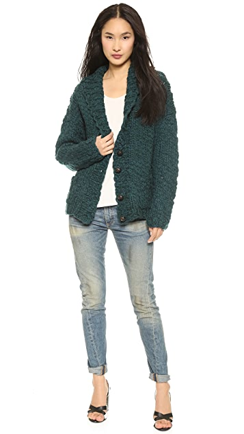 L'AGENCE Hand Knit Cardigan