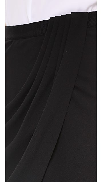 L'AGENCE Drape Front Skirt