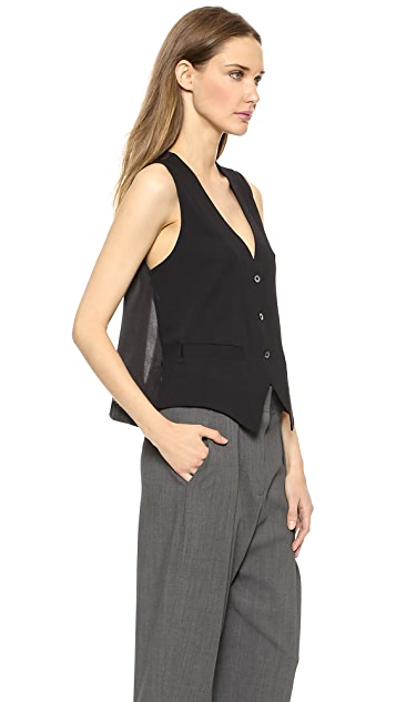 L'AGENCE Vest with Divided Back