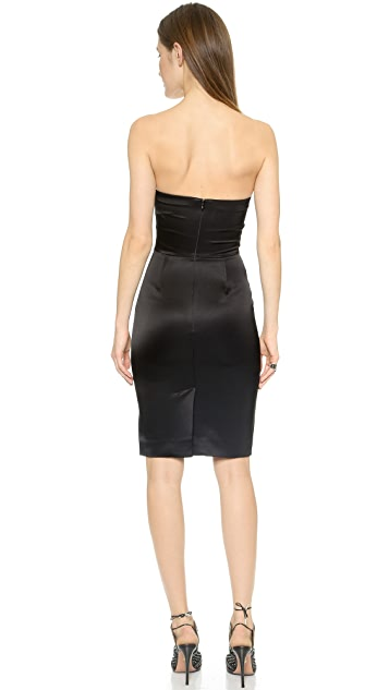 L'AGENCE Strapless Tailored Dress