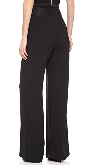 L'AGENCE High Waist Trouser with Contrast Waistband