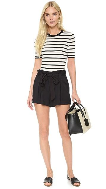 L'AGENCE Alex Paper Bag Shorts
