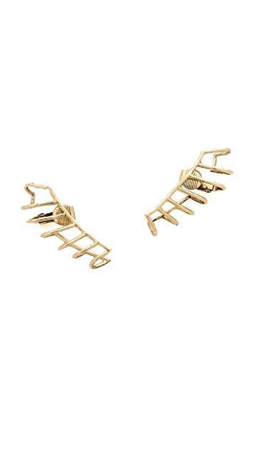 Lady Grey Cage Clip On Earrings