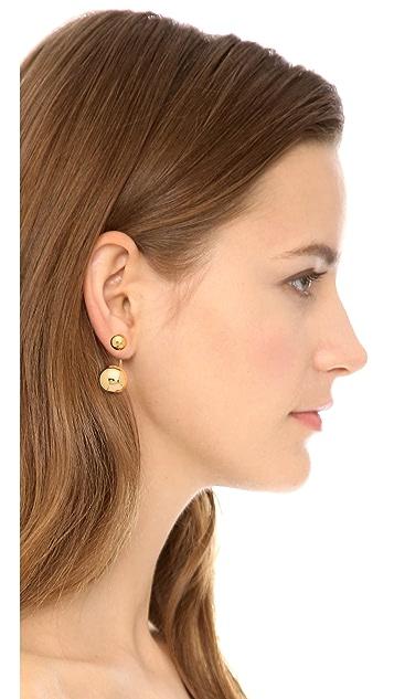 Lady Grey Double Sphere Earrings