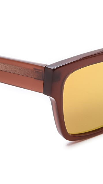 Linda Farrow for 3.1 Phillip Lim Gold Mirror Sunglasses