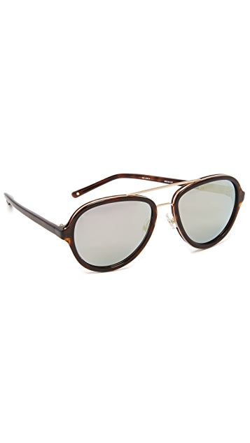 Linda Farrow for 3.1 Phillip Lim Mirrored Round Sunglasses