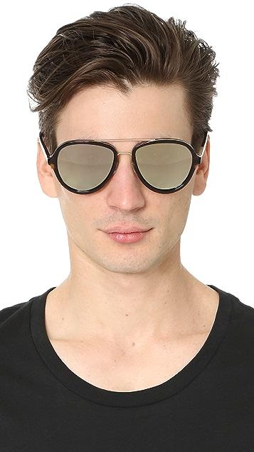 Linda Farrow for 3.1 Phillip Lim Mirrored Round Sunglasses