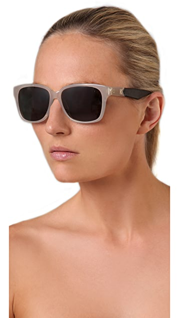 The Row Leather Classic Sunglasses