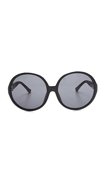 The Row Round Oversized Sunglasses