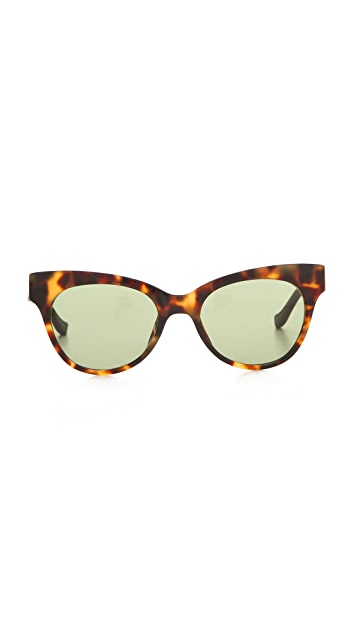The Row Leather Cat Eye Sunglasses