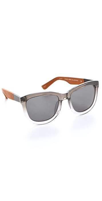 The Row Leather Detail Sunglasses